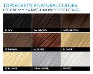 TopSecret Hair Thickening Fibers 9 Natural Colors